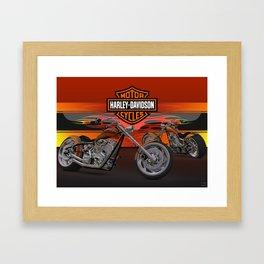 #HarleyDavidson Custom 3d design by #ScottBates Framed Art Print