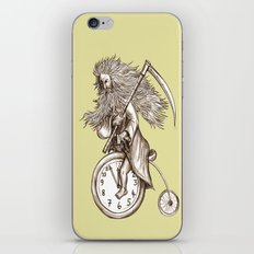 Father Time on a Penny Farthing iPhone & iPod Skin