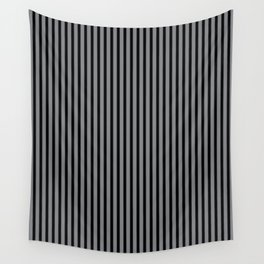 Sharkskin and Black Stripes Wall Tapestry