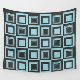 Blue Squares Wall Tapestry