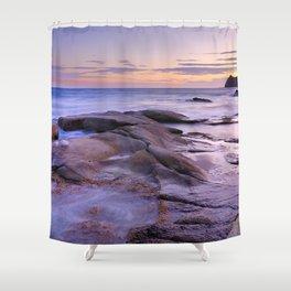 Purple Sunset At Vela Blanca Tower Shower Curtain