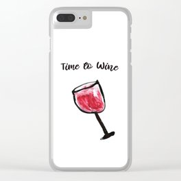 Glass of Wine in Watercolor by MahsaWatercolor Clear iPhone Case