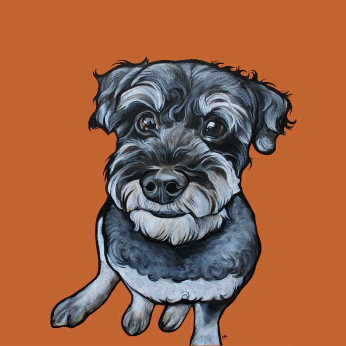 Frankie the Schnoodle Duvet Cover