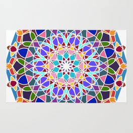 Mandala illustration Rug