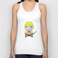 conan Tank Tops featuring A Boy - He-Man by Christophe Chiozzi