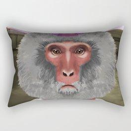 Snow Monkey Rectangular Pillow