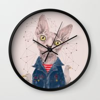 gangster Wall Clocks featuring The Gangster by dogooder