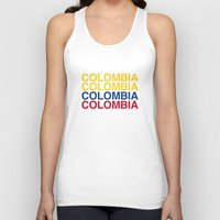 colombia Tank Tops featuring COLOMBIA by eyesblau