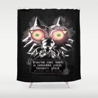 majora Shower Curtains featuring Majora Mask by Janismarika