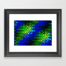 WAVY #2 (Blues, Greens & Yellows) Framed Art Print