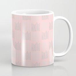 Teal textile lines on pink Coffee Mug