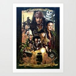 Pirates of the Carobbean Poster Art Print