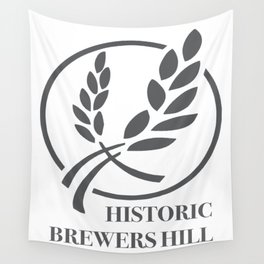 Brewers Hill Sign Black Wall Tapestry
