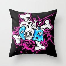 Skull Pops Throw Pillow