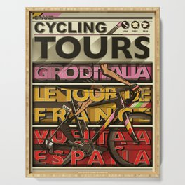Cycling Grand Tours Bicycle Races Serving Tray