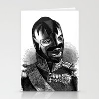 wrestling Stationery Cards featuring WRESTLING MASK 8 by DIVIDUS