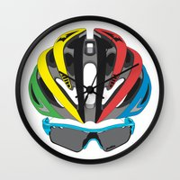 cycling Wall Clocks featuring Cycling Face by Pedlin
