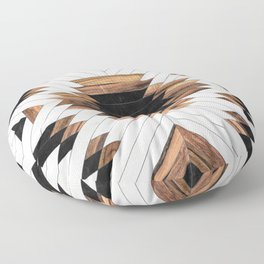 Urban Tribal Pattern No.5 - Aztec - Concrete and Wood Floor Pillow