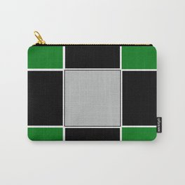 TEAM COLORS 3......GREEN,BLACK, AND GRAY Carry-All Pouch
