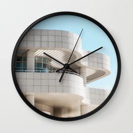 The Getty Center Museum Los Angeles | Architecture Travel Photography Wall Clock