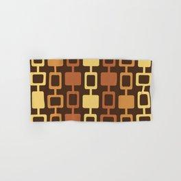 Mid Century Modern Square Columns Brown Burnt Orange Hand & Bath Towel