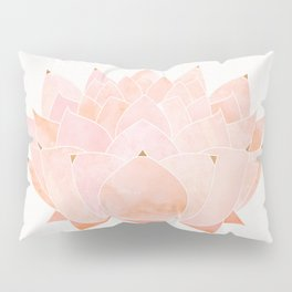 Blush Zen Lotus ~ Metallic Accents Pillow Sham