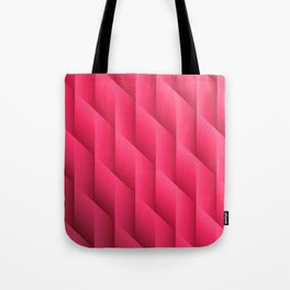 Gradient Pink Diamonds Geometric Shapes Tote Bag