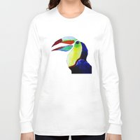 toucan Long Sleeve T-shirts featuring Toucan by WITH MY HANDS