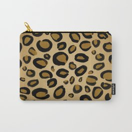 Painted Cheetah Leopard Spots Carry-All Pouch