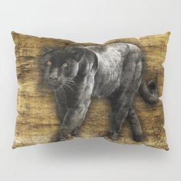 Wild Black Jaguar Pillow Sham