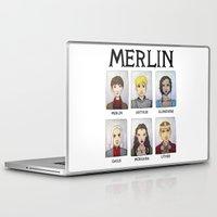 merlin Laptop & iPad Skins featuring MERLIN by Space Bat designs