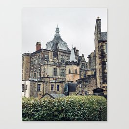 Greyfriars Kirkyard - Candlemakers row in Edinburgh, Scotland Canvas Print