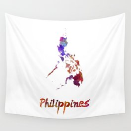 Philippines  in watercolor Wall Tapestry