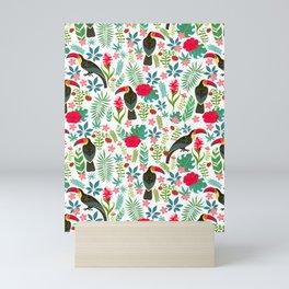 Floral Toucan Mini Art Print
