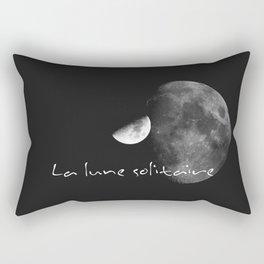 La lune solitaire Rectangular Pillow
