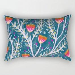 Tiny Moth Garden Pattern Rectangular Pillow