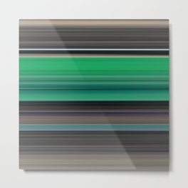 Green and grey abstract Metal Print