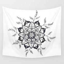 Mandala in Nature Wall Tapestry