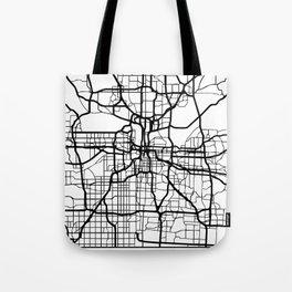 KANSAS CITY MISSOURI BLACK CITY STREET MAP ART Tote Bag