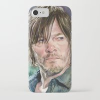 daryl dixon iPhone & iPod Cases featuring Daryl Dixon by Mark Satchwill Art