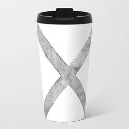 BLACK AND WHITE CROSS Travel Mug