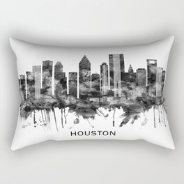 Houston Texas Skyline BW Rectangular Pillow
