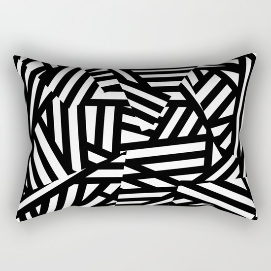Simply Black and White 1 Rectangular Pillow