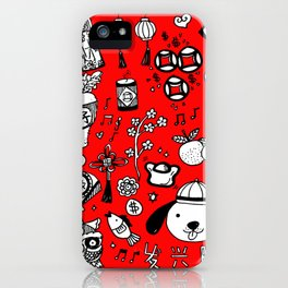 2018 Chinese New Year Doodles iPhone Case