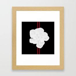 White Succulent On Black #decor #society6 #buyart Framed Art Print