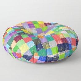 Pixelated Patchwork Floor Pillow