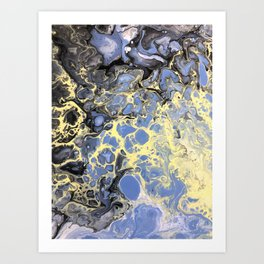 Mellow Yellow (and lavender) Art Print