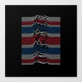 Joy Division - Unknown British Pleasures Canvas Print
