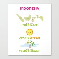 indonesia Canvas Prints featuring Indonesia by Franciska Windy