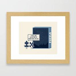 Something Bigger Framed Art Print